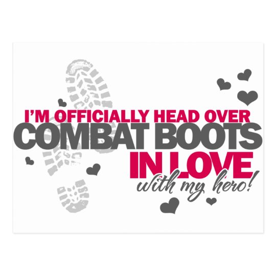 Head over Combat Boots Postcard