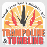 Head Over Heels Trampoline & Tumbling Square Stickers