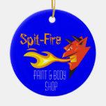 Head_Paint y Body Shop del diablo ardiente Adornos De Navidad