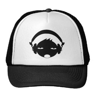 head phone mesh hat