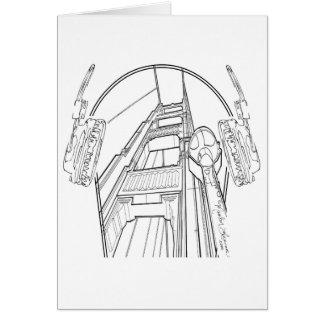 Head Phones Golden Gate Bridge Card