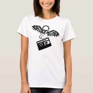 Head Phones Wings Cassette Tape T-Shirt