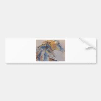 Head Portrait of Mustangs in Pastels Bumper Sticker