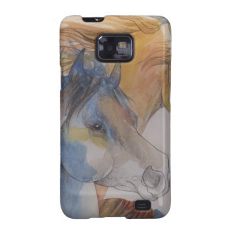 Head Portrait of Mustangs in Pastels Galaxy S2 Cover