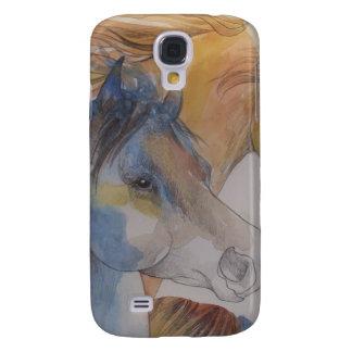Head Portrait of Mustangs in Pastels Galaxy S4 Covers