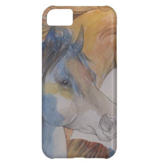 Head Portrait of Mustangs in Pastels Cover For iPhone 5C