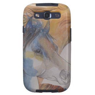 Head Portrait of Mustangs in Pastels Samsung Galaxy SIII Cover
