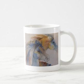Head Portrait of Mustangs in Pastels Coffee Mug