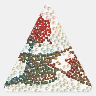 ©Head que da vuelta en la mezcla Pegatina Triangular