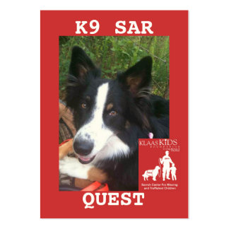 head-QUEST2, KlassKids Search Team K9 Large Business Cards (Pack Of 100)
