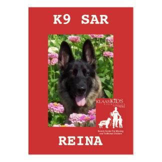 head-REINA, KlassKids Search Team K9 Large Business Card