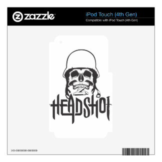 Head shot iPod touch 4G decals