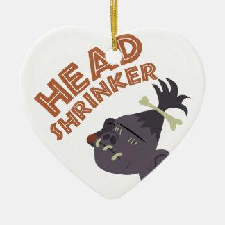 Head Shrinker Ceramic Ornament