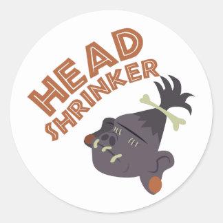 Head Shrinker Classic Round Sticker