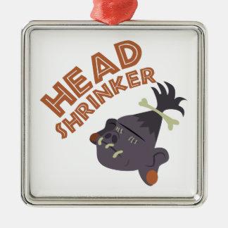 Head Shrinker Metal Ornament