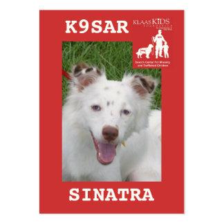 head-SINATRA, KlassKids Search Team K9 Large Business Card