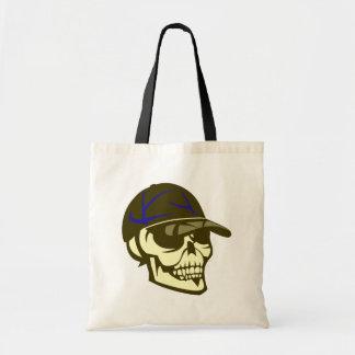 Head skull cap skull cap tote bag