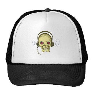 Head skull headphone skull earphones hats
