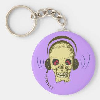Head skull headphone skull earphones keychain