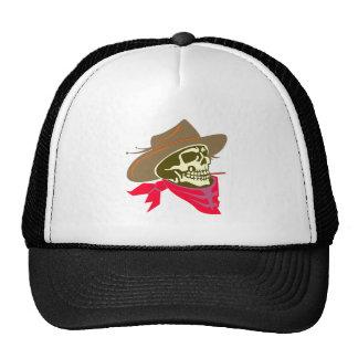 Head skull skull cowboy trucker hat