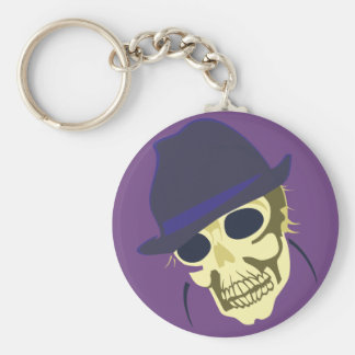 Head skull skull hat has keychain