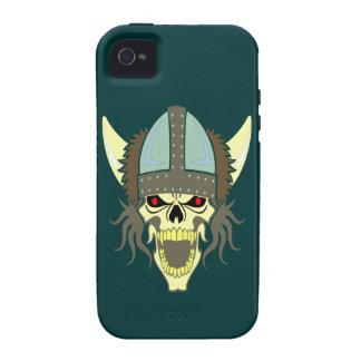 Head skull Viking skull viking iPhone 4/4S Cases