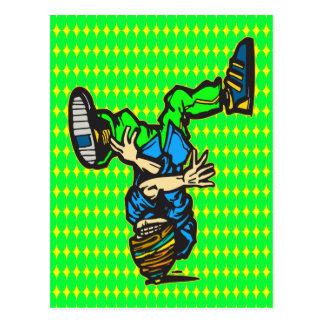 Head Spin Dance Postcard