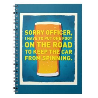 Head Spins Spiral Notebook