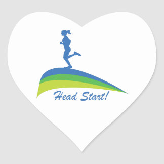 Head Start Heart Sticker