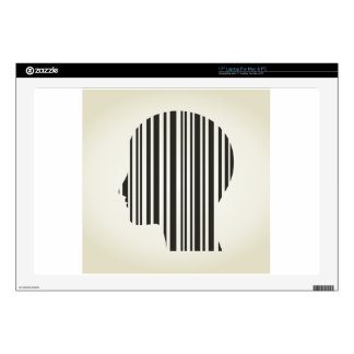 """Head stroke a code decal for 17"""" laptop"""