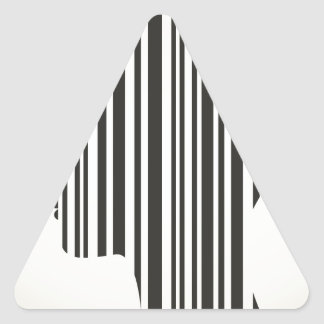 Head stroke a code triangle sticker