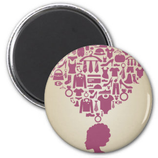Head the girl clothes magnet