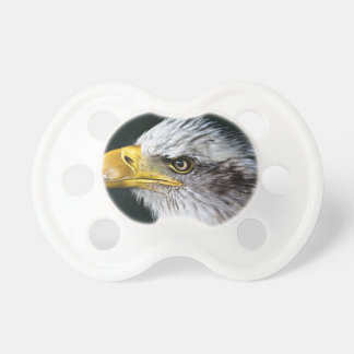 Head Themed, A Proud Eagle With A Yellow Beak Show BooginHead Pacifier