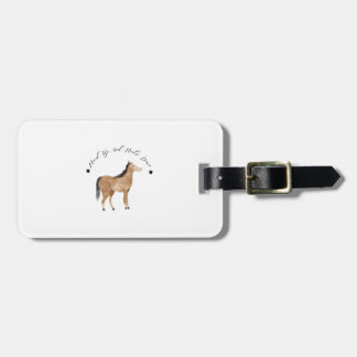 Head Up And Heels Down Gifts Horse Lovers Racing Bag Tag