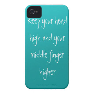 Head up, Finger higher Case-Mate iPhone 4 Cases