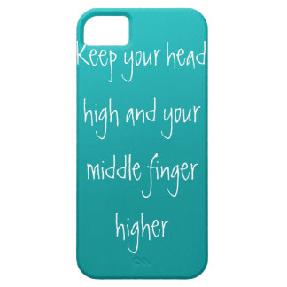 Head up, Finger higher iPhone SE/5/5s Case
