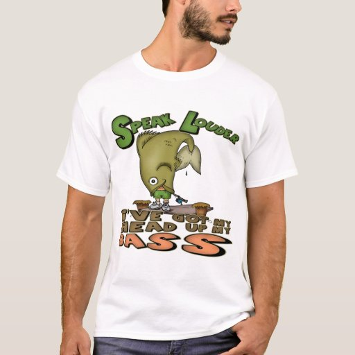 Head up my bass fishing t shirts and gifts zazzle for Bass fishing t shirts