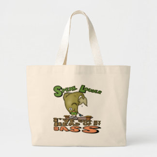 Head Up My Bass Fishing T-shirts and Gifts Tote Bag