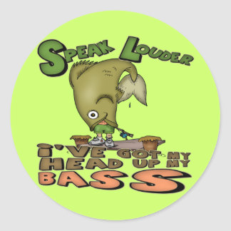 Head Up My Bass Fishing T-shirts and Gifts Sticker