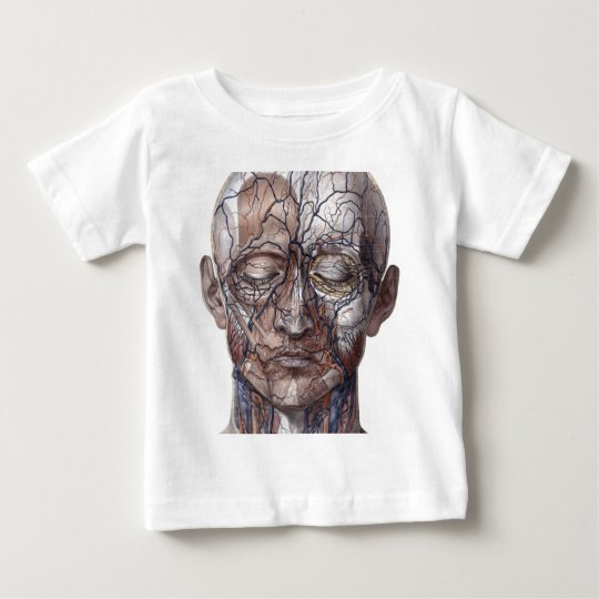 Head Veins and Muscles Baby T-Shirt