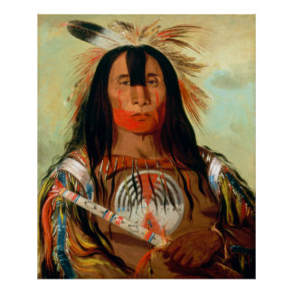 Head war chief of the Blood Indians. Poster