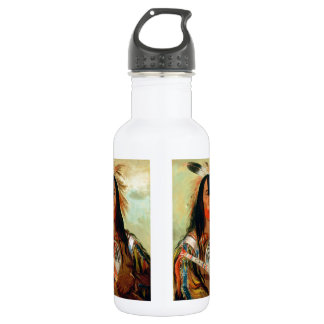 Head war chief of the Blood Indians. Water Bottle