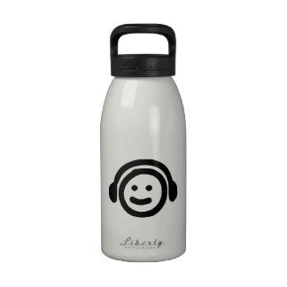 Head Wearing Headphones Reusable Water Bottles