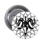 Head with Chaos Star (black) 2 Inch Round Button