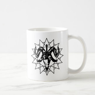 Head with Chaos Star (black) Coffee Mug