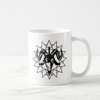 Head with Chaos Star (black) Coffee Mugs