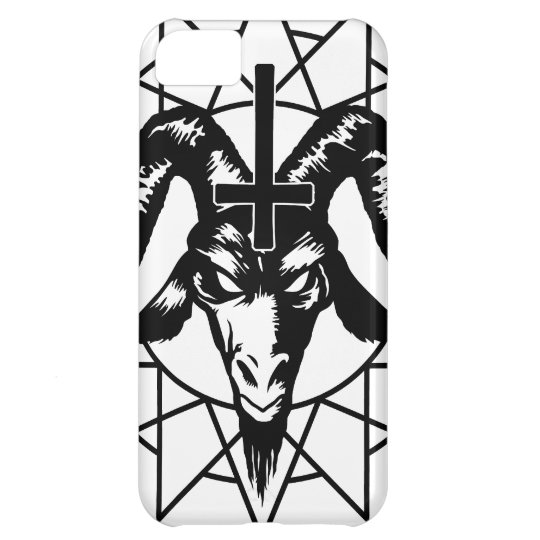 Head with Chaos Star (black) Cover For iPhone 5C