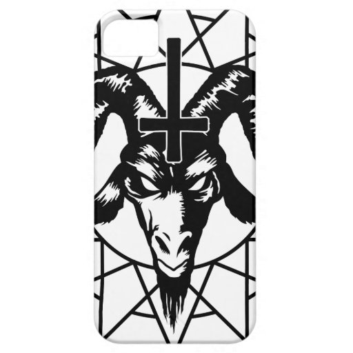 Head with Chaos Star (black) iPhone 5 Case