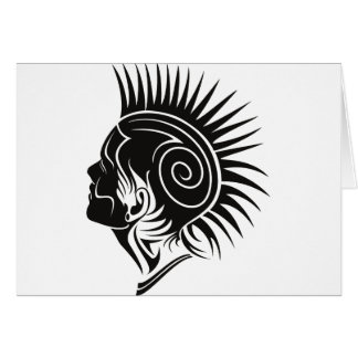 Head with Mohawk Card