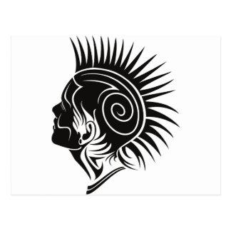 Head with Mohawk Postcard